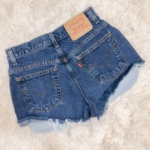 Levi's Distressed Jean Shorts Size 0 XS